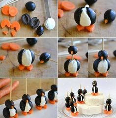 Tasty Christmas Olive Pingu Penguins! / Anycraft-blog