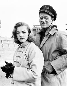 Lauren Bacall & John Wayne, photographed by Phil Stern.