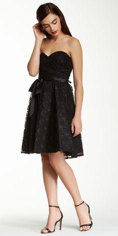 Marina | Strapless Lace Dress