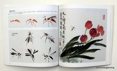 """Chinese Painting Book """"Learn to Paint Insect by Xieyi Free Hand """"Ink from Master 