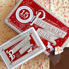 Peppermint Bark from Williams-Sonoma. I now make my own, but for years this was the only peppermint bark I would buy, and my Holidays wouldn't be quite the same without it. Christmas Hanukkah, Christmas Goodies, Christmas Time, Holiday Gifts, Christmas Gifts, Mary Christmas, Christmas Kitchen, Christmas Desserts, Holiday Ideas