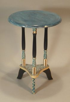 HANDPAINTED DECORATIVE ART FURNITURE original designs | painted by hand | one-piece-at-a-time by SUZANNE FITCH Perfect size table to move all around the house or office. All work, from prep to packing, is done personally by me. Sophisticated & whimsical; contemporary &