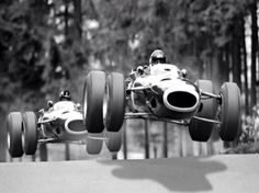 Jackie Stewart followed by Graham Hill at the Nürburgring, 1966