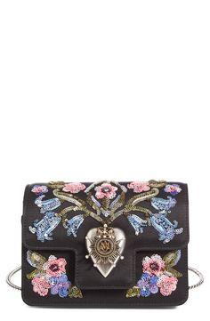 floral black bag
