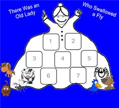 there was an old lady who swallowed a fly SmartBoard activity