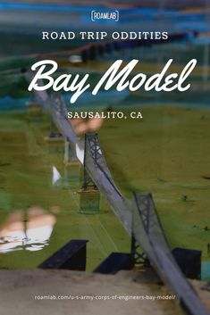 Back in the day, before computerized models, California needed a hydraulic model of the Bay to research potential effects in modifying the shoreline and introducing damns. And so, in 1957, the Army Corps of Engineers built as massive working scale model of the San Francisco Bay and the Sacramento-San Joaquine River Delta. Scale Model, Engineers, Sacramento, San Francisco, Army, California, River, Models, Gi Joe