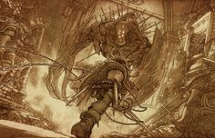 View an image titled 'Elza Fighting Enemy Sketch' in our The Last Story art gallery featuring official character designs, concept art, and promo pictures. The Last Story, Character Art, Character Design, Cool Anime Wallpapers, Creature Concept, Video Game Art, Cool Artwork, Amazing Artwork, Art Google