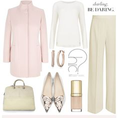 Winter Pastels by soleuza on Polyvore featuring moda, M&S Collection, Viyella, STELLA McCARTNEY, Sophia Webster, Furla and Dolce&Gabbana