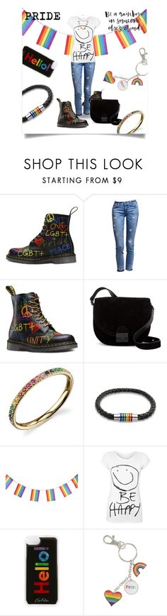 """BE HAPPY!"" by nicole-christie-mennen ❤ liked on Polyvore featuring Loeffler Randall, Sydney Evan, Bling Jewelry, WearAll, Edie Parker, Marc Jacobs and pride"