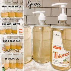 Thieves Laundry Soap Hack — A Moms Best Guess Essential Oils For Laundry, Young Essential Oils, Essential Oil Uses, Thieves Essential Oil, Frugal, Homemade Cleaning Products, Household Products, Household Chores, Young Living Oils