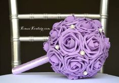 LAVENDER POMANDER BRIDESMAID Bouquet With Bling by KimeeKouture