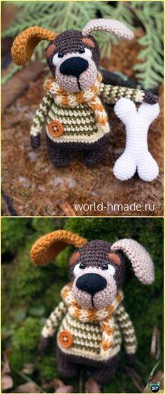 Crochet Amigurumi Puppy Tom Free Pattern - Amigurumi Puppy Dog Stuffed Toy Patterns