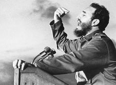 Fidel Castro    (perhaps, Obama should adopt this stance, so authoritarian, the wild-eyed Hitler look is getting pretty stale)