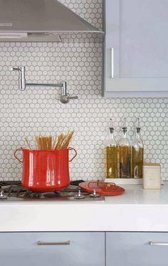 Design Trends: Subway + Hexagon Marble Tile