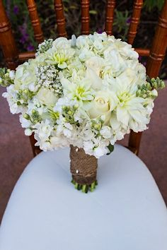 Gorgeous White bouquet | Franciscan Gardens | Two Rings and a Dress Photographers #californiaweddings #weddings #ocweddingplanner