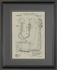 Blood Pressure Cuff Patent Art Doctor Nurse by ConceptProducts, $69.00