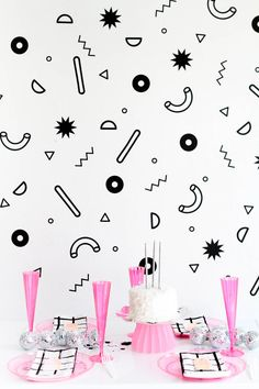 I'm a little obsessed with these wall decals. I've never ordered any before but I feel like they're a total game changer for party decoration. (Or even semi-permanent wall decor for my home.) I was