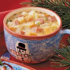 This has become our FAVORITE fall soup over the years. Sweet Potato Chowder. Made with fat free broth & milk it comes out to 5 WW Points+ per serving (per 1 cup)