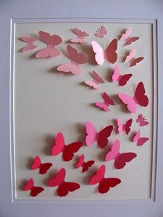 3D butterfly art - DIY for guest room?