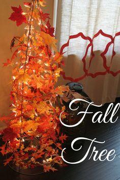 new mrs. adventures: DIY Tomato Cage Fall Tree #fall #falldecorating