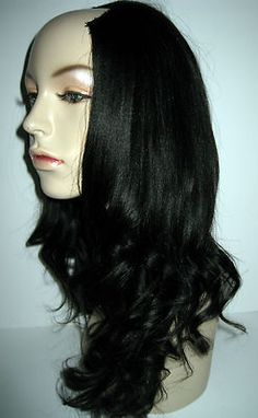 """U-PART WIG 16"""" Relaxed Yaki 1B Premium Malaysian Virgin Remy...Oh I love this hair!"""