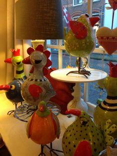 Edith Léon ceramics birds oiseaux en céramique keramieken vogels