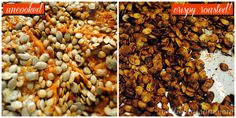 Roasted pumpkin seeds seem to be a staple around Halloween, but roasted squash seeds are even tastier. they're not only edible, but delicious. Roasted Squash Seeds, Roasted Pumpkin Seeds, Roast Pumpkin, Healthy Alternatives, Beans, Tasty, Vegetables, Cooking, Recipes