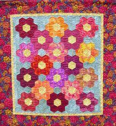grandmother's flower garden quilt images   Free Grandmothers Flower Garden Quilt Pattern With History