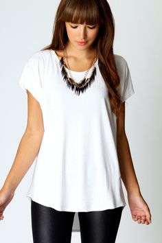 Jasmin Basic Oversized Tee (8 colors to choose from): Great everyday shirt