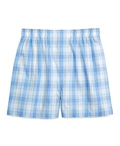 Traditional Fit Tonal Plaid Boxers Light Blue