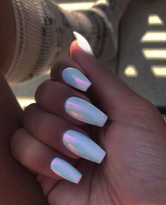 57 lovely nail acrylic designs and ideas to wear this summer 67 producttall. Summer Acrylic Nails, Best Acrylic Nails, Acrylic Nail Designs, Holographic Nails Acrylic, Acrylic Nails With Design, Fake Nail Designs, Summer Nails, Acrylic Nails Chrome, Acrylic Nails Pastel