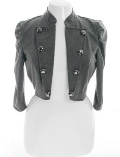 cadet button grey jacket