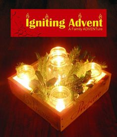 Every family creates and takes home their very own Advent Wreath Box.