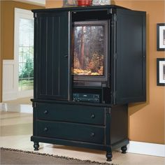 Black Clothing Armoire