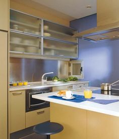 Eckküche Gestaltung-Ideen Farbenwahl