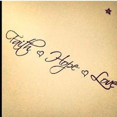Tattoo faith hope love