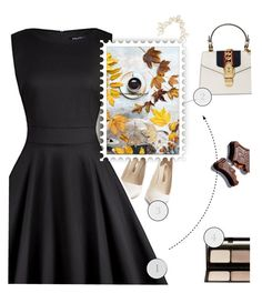 Black and... by luizaluz on Polyvore featuring moda, Sophia Webster, Gucci, Charlotte Russe, Kevyn Aucoin, casual, black, dress and blackandwhite