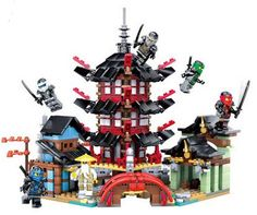 737pcs 2016 Bozhi 105 Ninjagoed Super heroes Temple of Airjitzu Building Blocks Toys Gift Minifigures brinquedos legeod #clothing,#shoes,#jewelry,#women,#men,#hats,#watches,#belts,#fashion,#style