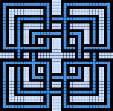 Artwork by at Grid Paint. Tapestry Crochet Patterns, Mosaic Patterns, Quilt Patterns, Graph Paper Drawings, Graph Paper Art, Cross Stitching, Cross Stitch Embroidery, Cross Stitch Patterns, Motifs Blackwork
