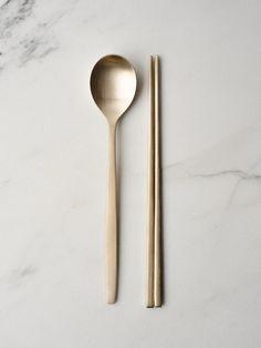 Brass Spoon + Chopsticks Set