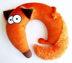 fox neck pillow
