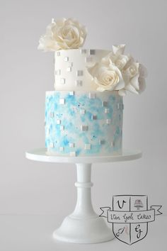 Need wedding cake ideas? We got you covered with over unique, simple, elegant, and beautiful wedding cake design inspirations. Beautiful Wedding Cakes, Gorgeous Cakes, Pretty Cakes, Cute Cakes, Amazing Cakes, Cake Design Inspiration, Wedding Cake Inspiration, Modern Cakes, Painted Cakes