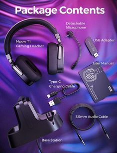 Wireless Gaming Headset with Base Station