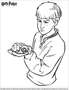 Harry Potter free online coloring page Harry Potter Colors, Harry Potter Free, Harry Potter Decor, Cartoon Coloring Pages, Colouring Pages, Coloring Pages For Kids, Coloring Books, Harry Potter Coloring Pages, Cartoon Chef
