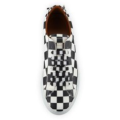 Givenchy Men's Check Urban Knot Leather Low-Top Sneaker ($550) ❤ liked on Polyvore featuring men's fashion, men's shoes, men's sneakers, mens leather sneakers, mens leather shoes, mens sneakers, givenchy mens sneakers and mens lace up shoes