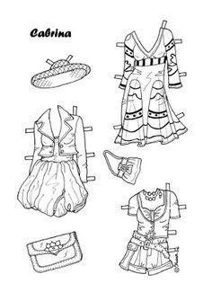 Karen`s Paper Dolls: Cabrina 1-8 Paper Doll to Colour. Cabrina 1-8…