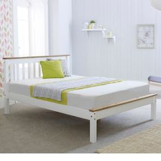 Derby White Wooden Bed