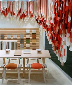 Share Design_The Picnic By Raw Edges by kvadrat.dk hanging fabric reds to white