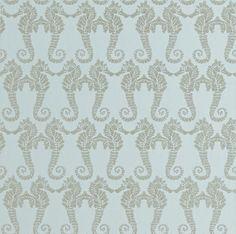 Seahorse Eau de Nil Eau de Nil wallpaper by Barneby Gates