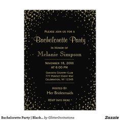 Bachelorette Party | Black Gold Confetti